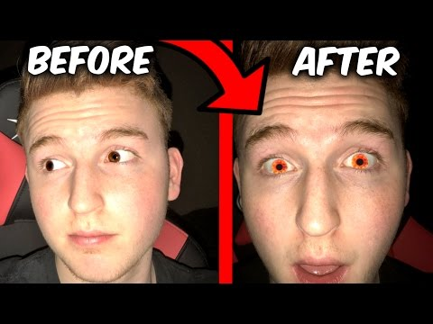MAKE YOUR EYE COLOR ORANGE FOR 5 MINUTES TRICK! (Wtf it actually works)