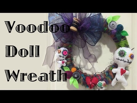 Halloween Voodoo Doll Wreath