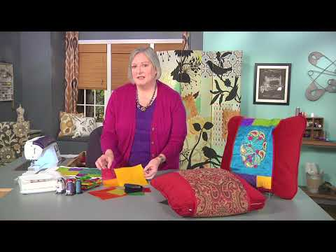 Create decorative, seasonal bands for pillows on It's Sew Easy with Rebecca Kemp Brent (1412-1)