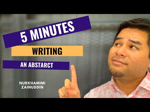 Writing an abstract in 5 minutes