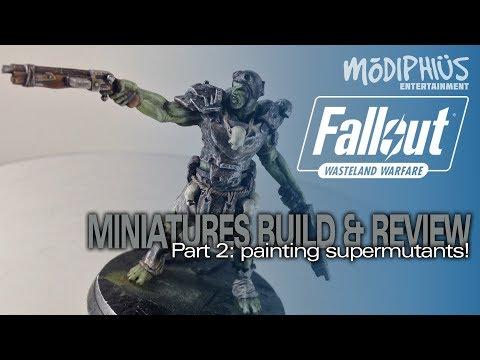 Modiphius Fallout Wasteland Warfare Miniatures 2: Painting Supermutants