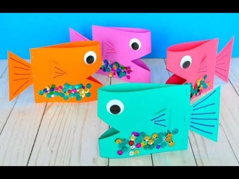 How to make a Paper fish !!
