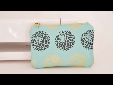 How To Do Prints On Leather & Make A Zipper Pouch - DIY Crafts Tutorial - Guidecentral