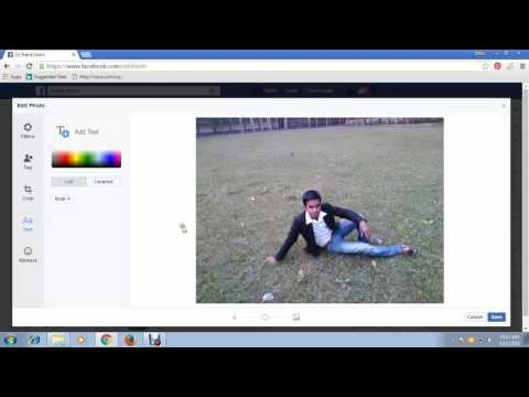 How to Upload Photos on Facebook Timeline Post & add Text Stickers Location Date & Time FB Tips 20