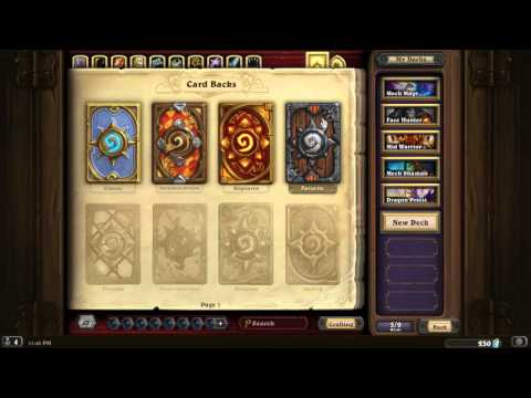 Hearthstone How To: Changing Card Backs