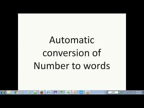 Automatically Convert numbers to words in Microsoft Excel 2003, 2007, 2010 in Hindi
