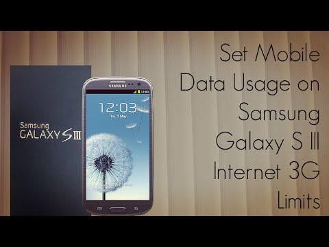 Set Mobile Data Usage on Samsung Galaxy S III S3 Internet 3G Limits - PhoneRadar