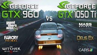 GTX 960 vs GTX 1050 Ti Test in 6 Games (Ryzen 3 1300x)