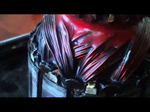 commutator motor fault, failed repair