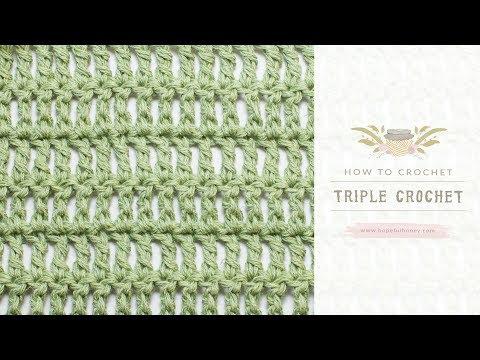 How To: Crochet A Triple Crochet (US Terms)  | Easy Tutorial by Hopeful Honey
