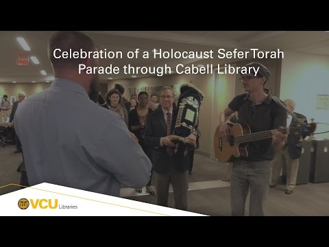 Celebration of Gift of a Holocaust Sefer Torah to VCU Libraries Parade