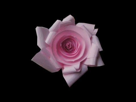 how to make  paper  rose  2014
