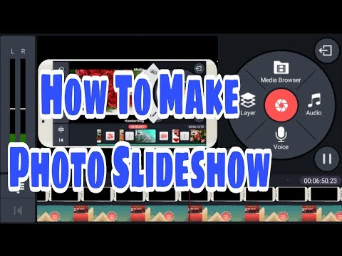 How to make photo Slideshow with background music in KineMaster - Hindi