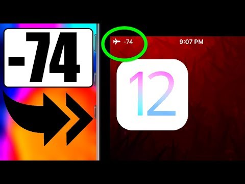CUSTOMIZE STATUS BAR WITH THIS TRICK /CUSTOM WIFI SIGNAL STRENGTH INDICATOR / IOS 12.1 OR LOWER