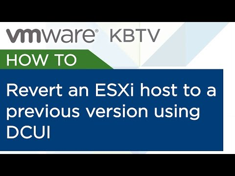 How to revert an ESXi host to a previous version using DCUI