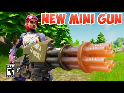 NEW MINI GUN UPDATE // FORTNITE BATTLE ROYAL