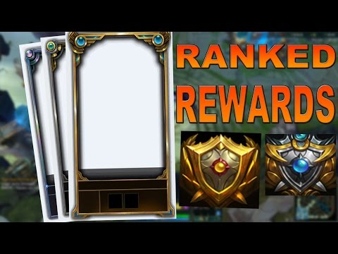 League of Legends: 2015 Ranked Rewards Borders and Icons