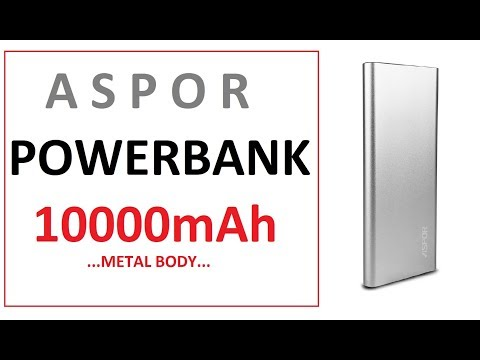 Aspor Air 10000mAh Metal Power Bank Unboxing - Quick Review | Makro.pk