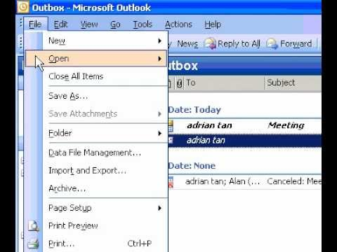 Microsoft Office Outlook 2003 I want to remove the border from my print job
