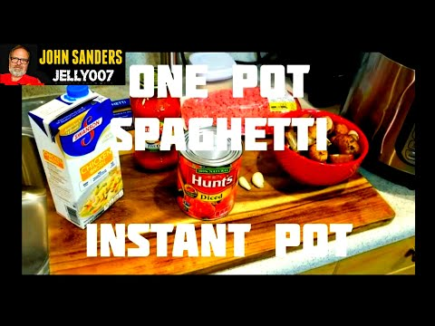 ONE POT SPAGHETTI meal in the INSTANT POT  simple fast delicious pasta in electric pressure cooker