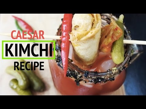 My Korean-Canadian Spicy Kimchi Caesar Recipe! | Gracie Carroll