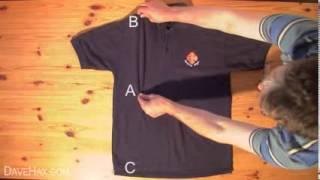 كيف تطوي قميص في 2 ثانية فقط !