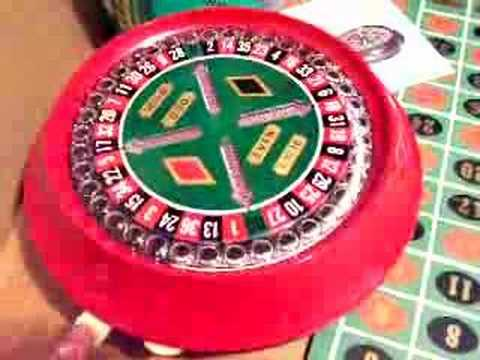 Vintage Battery-Op Roulette Wheel Game