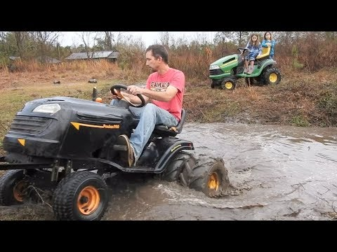 Mud Mowers in the Flooded Ditch