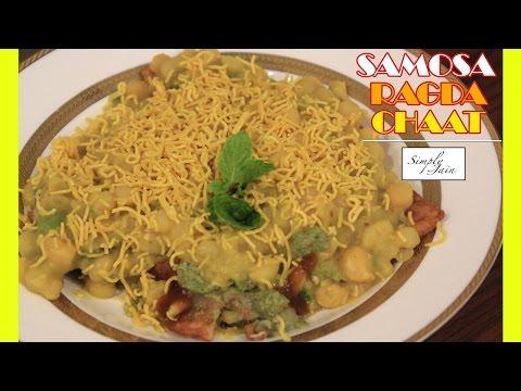 Samosa Ragda Chaat | How To Make Samosa Ragda Chaat | Chaumasa Special | Snacks | Simply Jain