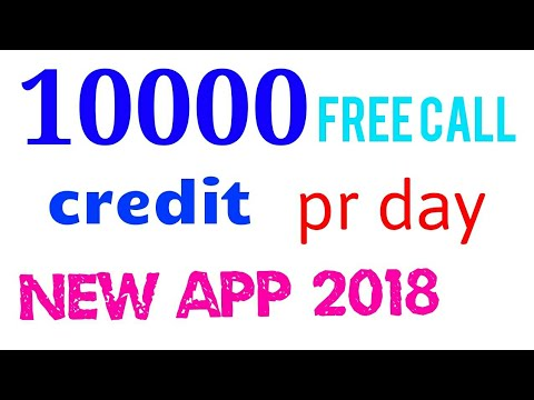 Daily 10000 free call credit earning new app