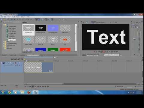 Sony Vegas pro - Cara Memperbesar dan Memperkecil Teks