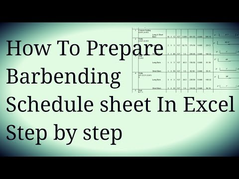 How to Make Bar Bending Schedule Sheet In Excel URDU/HINDI