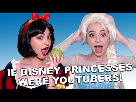 If Disney Princesses Were YouTubers - Merrell Twins