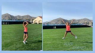 Tennis workout | Tennis drill | Highight Alize Cornet