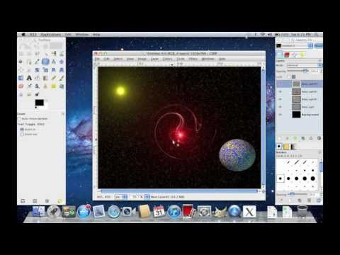 Making Planets and Galaxies in GIMP