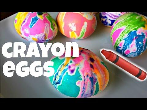 Tie Dye CRAYON Eggs - Easter craft
