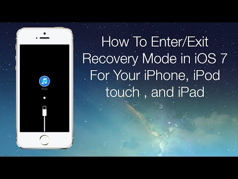 How To Enter/Exit Recovery Mode in iOS 7 For Your iPhone, iPod touch, and iPad