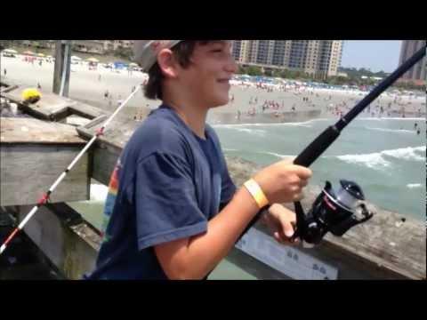 HUGE Blacktip Shark Fishing from the Pier: Myrtle Beach