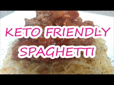 KETO RECIPE   KETO FRIENDLY SPAGHETTI