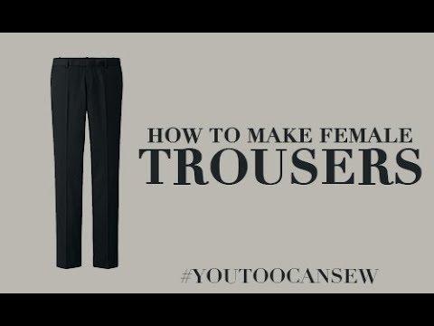 HOW TO CUT FEMALE TROUSER