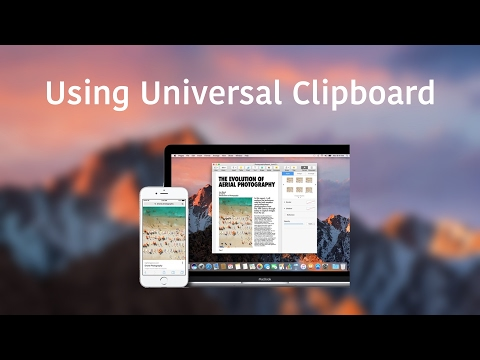Using Universal Clipboard
