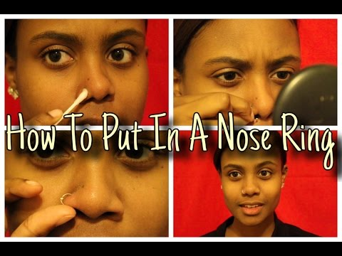 How To Put In A Nose Ring + Tips & Tricks! | KweenPaige