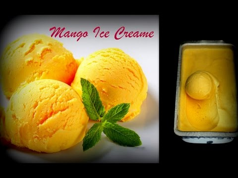 Mango Ice Cream Recipe(Only 3 Ingredients!) | No eggs No Ice Cream Machines | How To Make