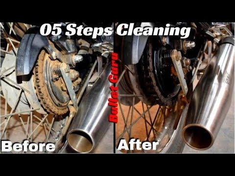 Royal Enfield Chain Cleaning & Lubrication - HOME