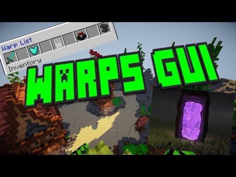 Minecraft Plugin Tutorial: WARPS GUI