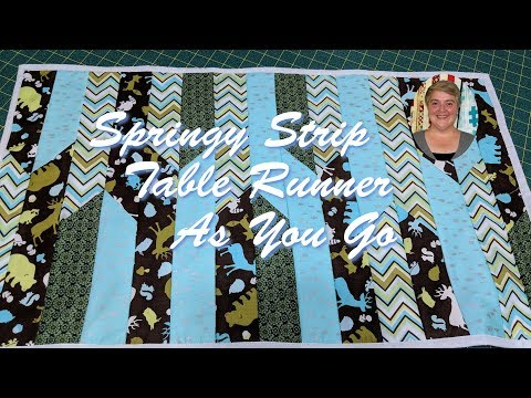 Springy Strip Table Runner As You Go