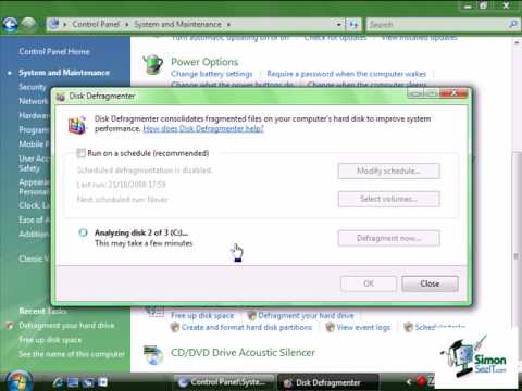 How to Defragment Your Hard Drive in Windows Vista