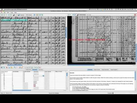 View Previous Page while Indexing a US Census Record