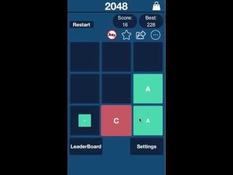 2048 Rejuvenation - Classic Puzzle Game, Alphabets And Elements