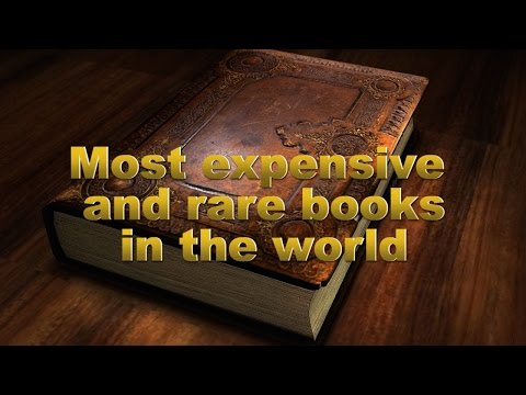 Most expensive and rare books in the world